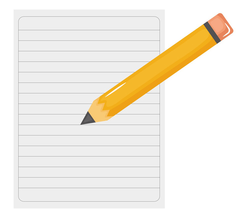 pencil writing notebook paper png