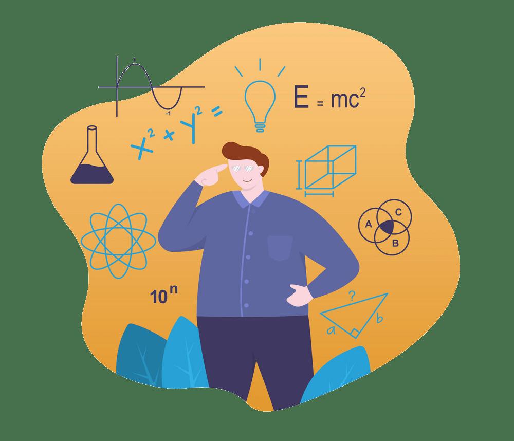 physics teacher with formula png trasparent