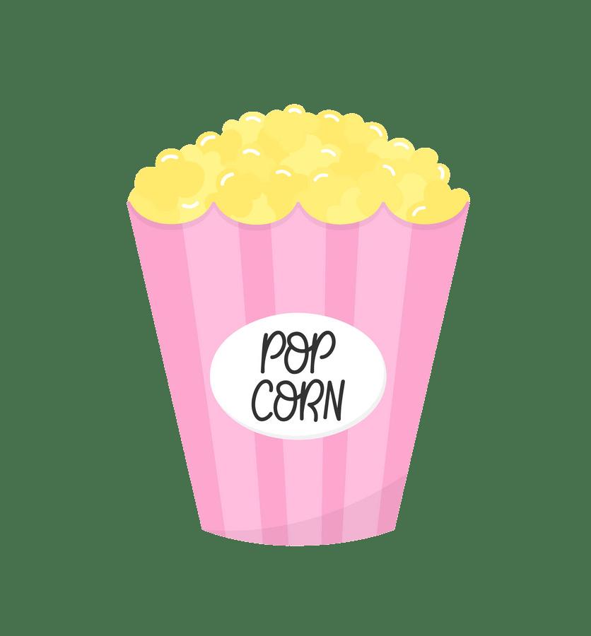 pink popcorn bag png transparent