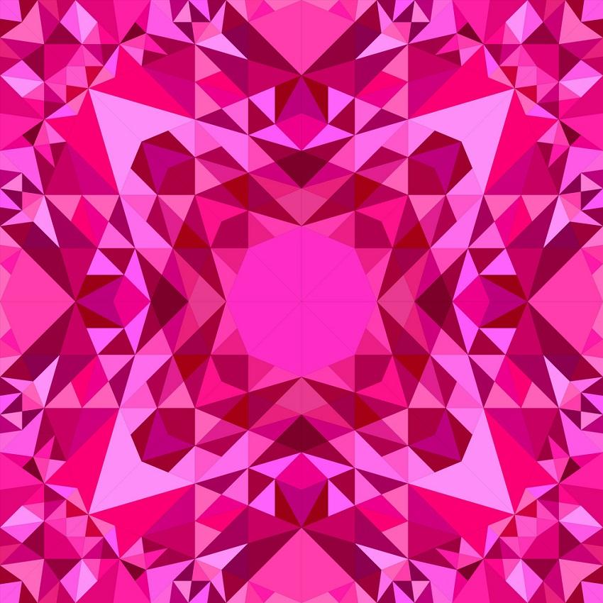 pink seamless kaleidoscope pattern