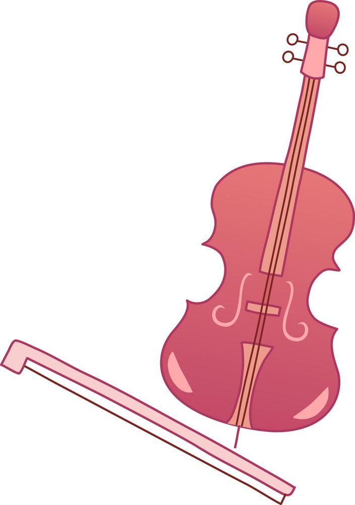 pink violin icon