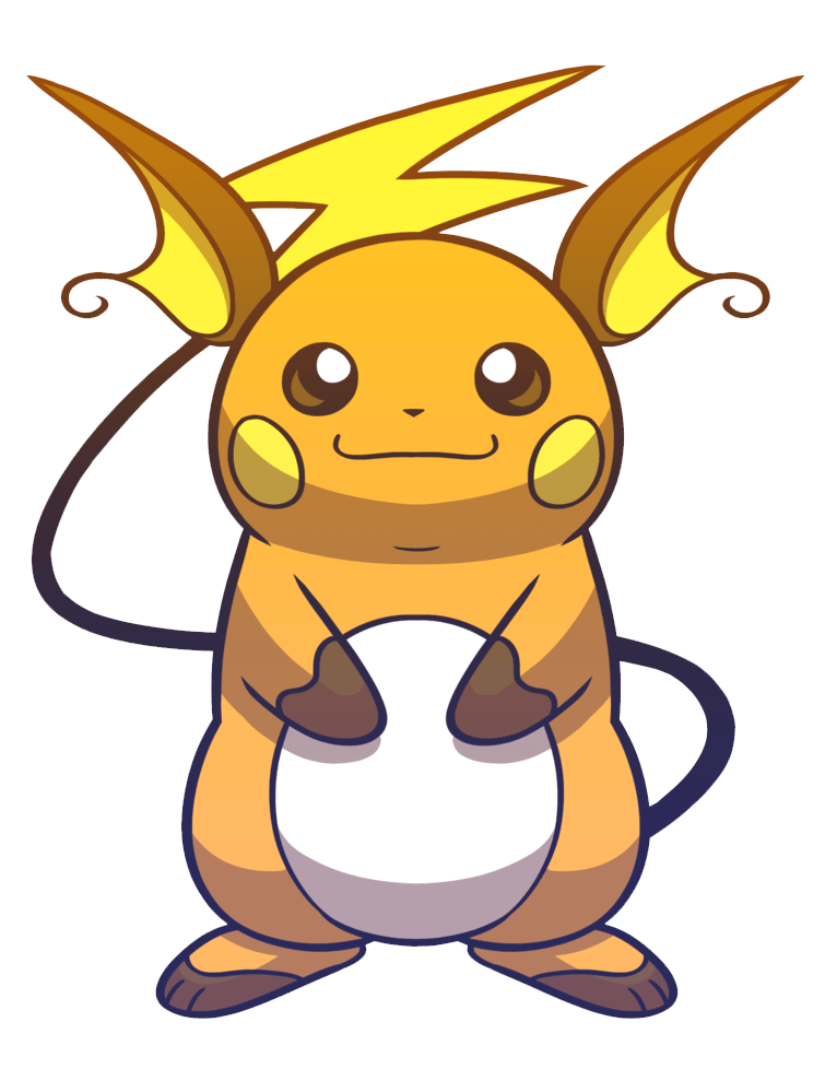 pokemon raichu transparent