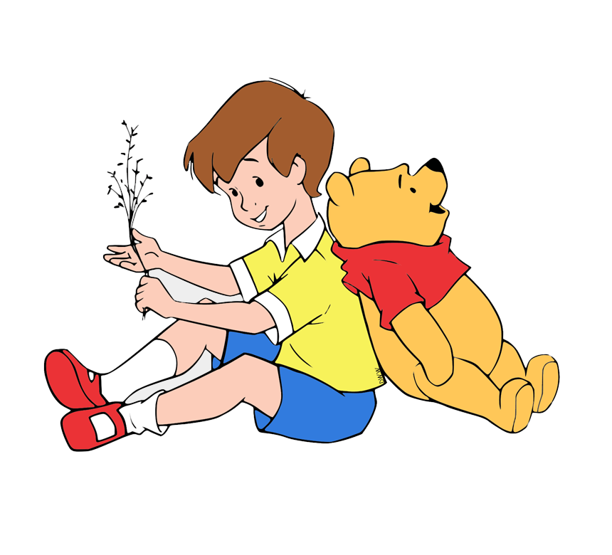 pooh and christopher robin png