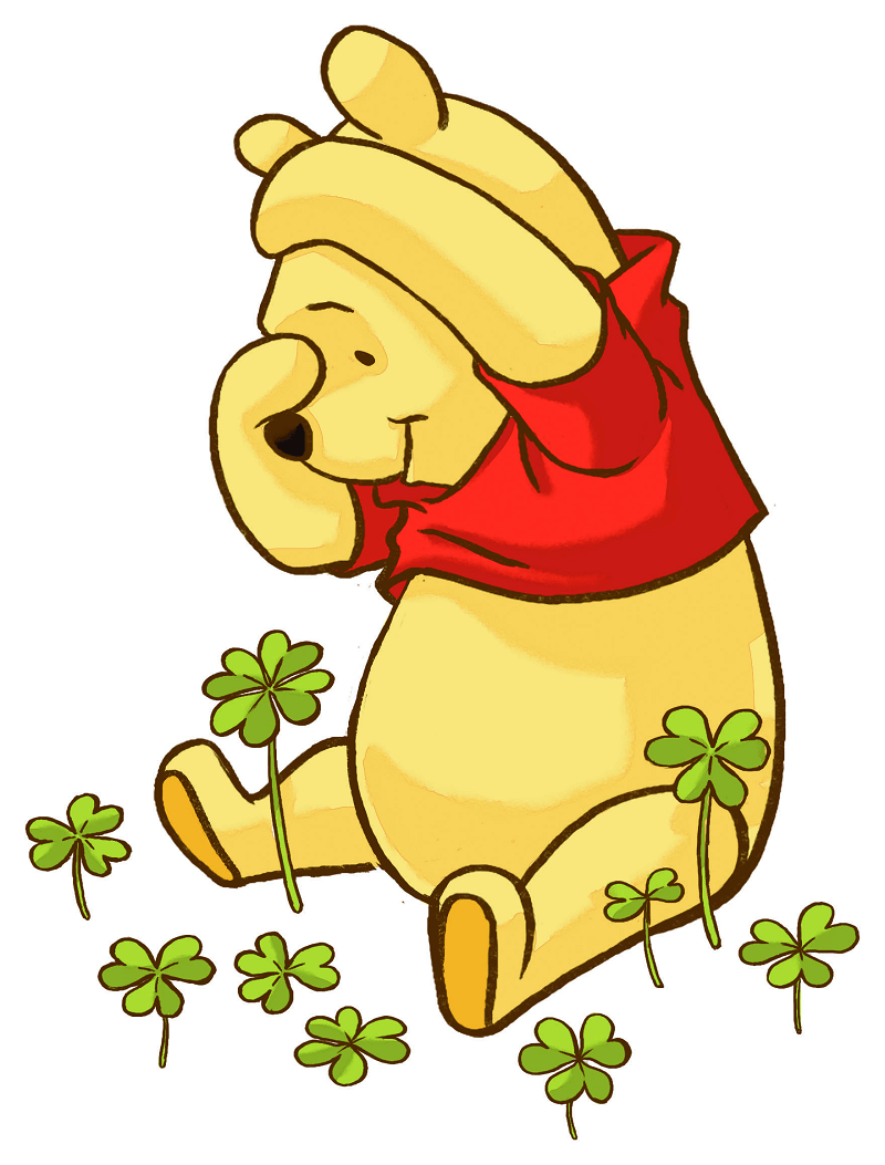 pooh and shamrock png