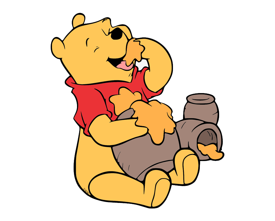 pooh eating honey transparent