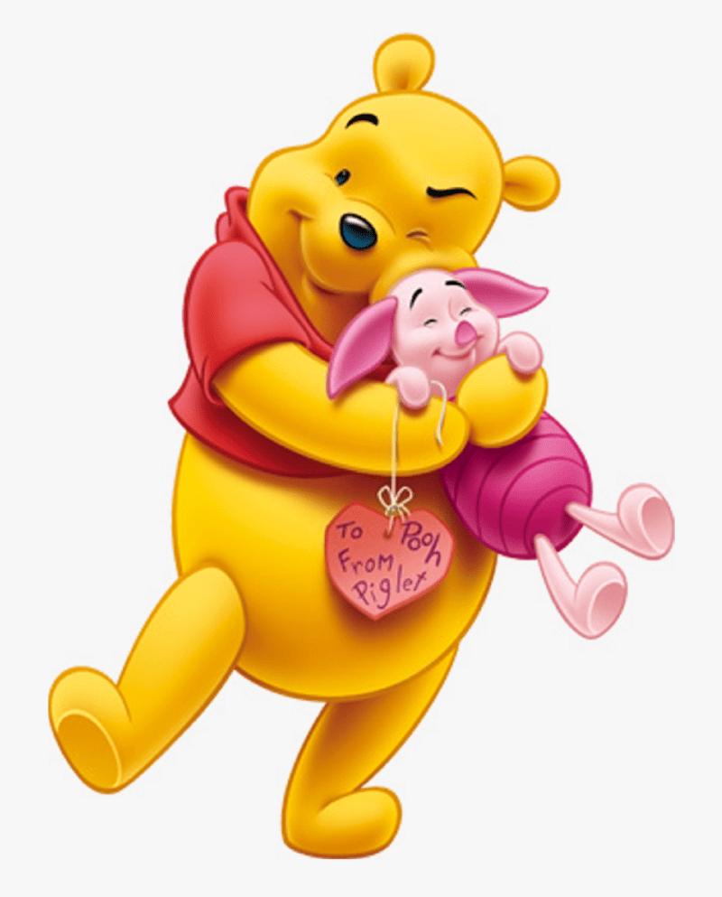 pooh hugging piglet png
