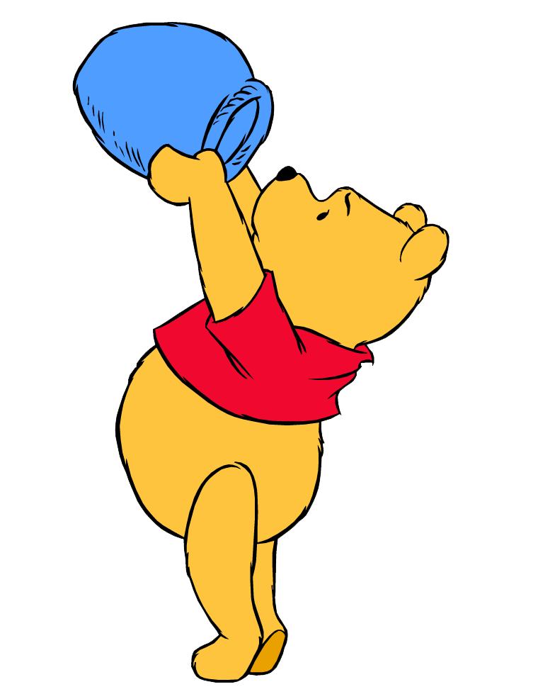 pooh looking for honey transparent