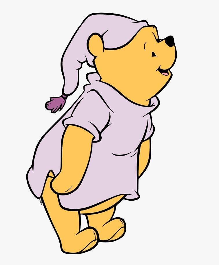 pooh wearing pijama