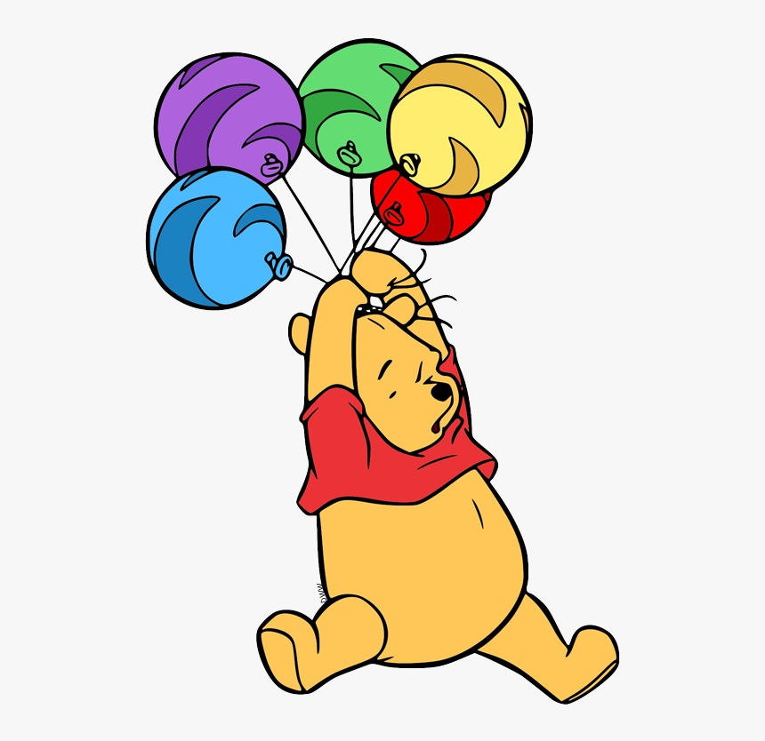 pooh with balloons