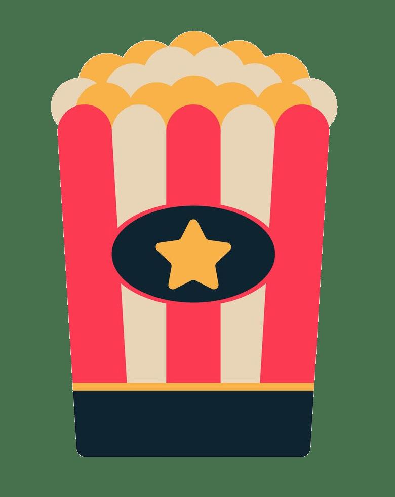 popcorn bag flat design png transparent