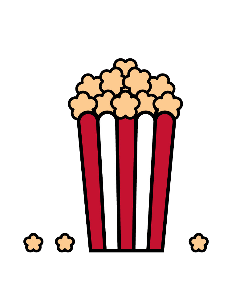 popcorn bag icon png transparent