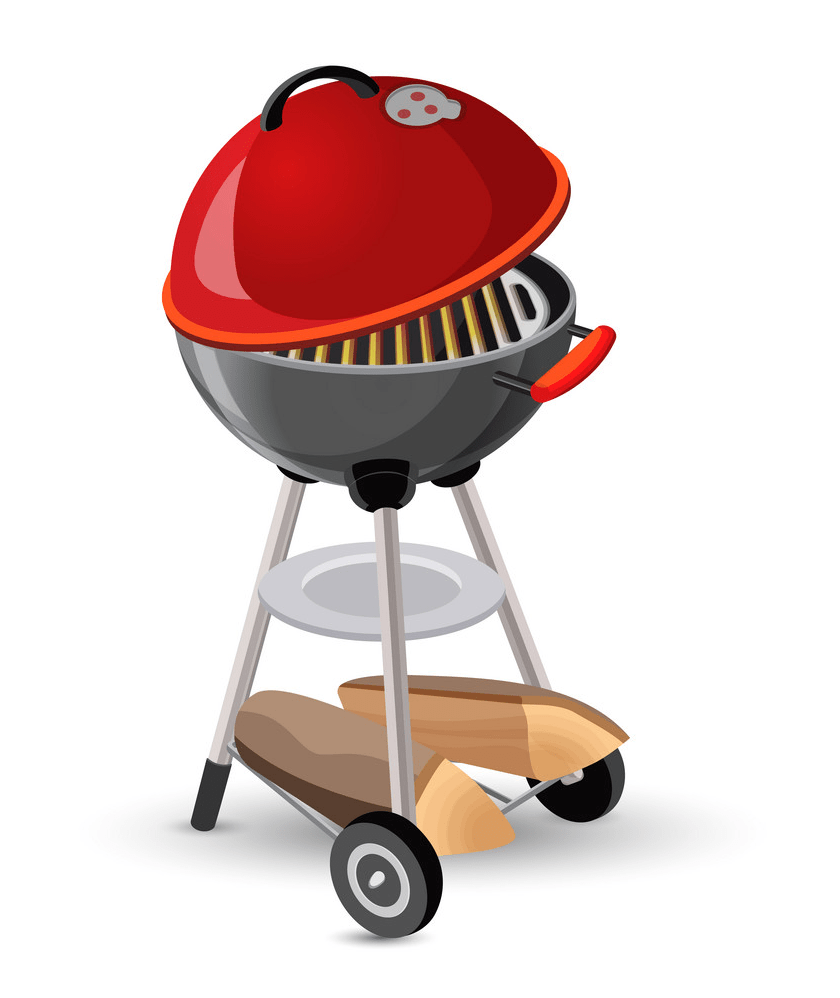 portable round barbecue png