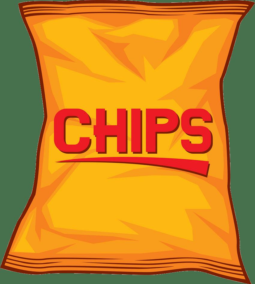 potato chips snack bag transparent