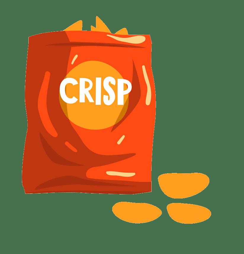potato chips snack transparent