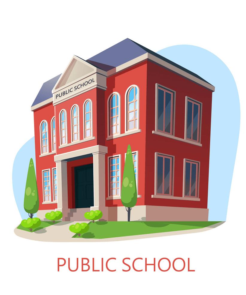 public school building png