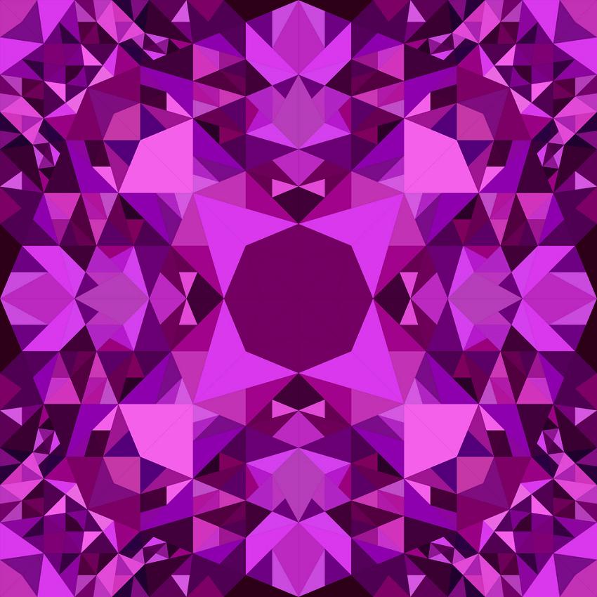 purple repeating kaleidoscope pattern png