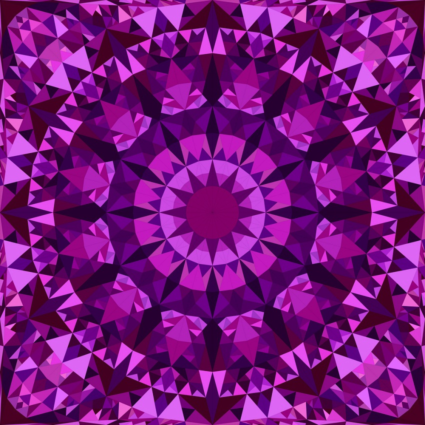 purple seamless kaleidoscope pattern
