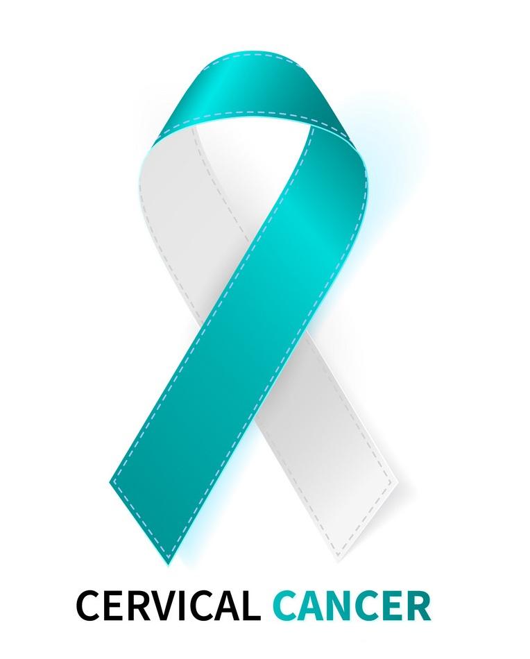 realistic cervical cancer ribbon