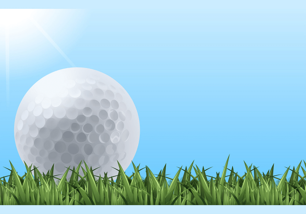 realistic golf ball on grass png