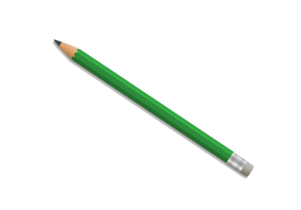 realistic green pencil png transparent