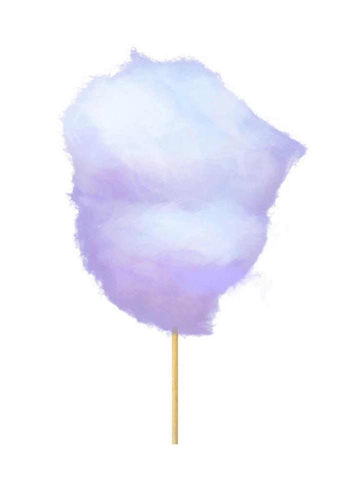 realistic purple cotton candy
