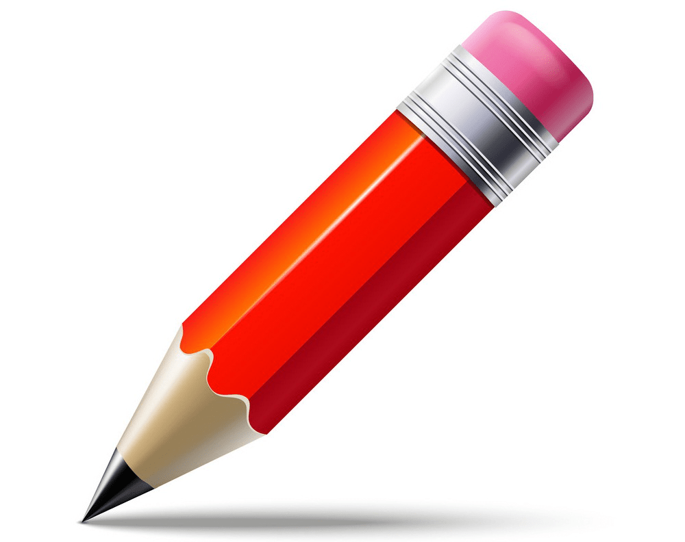 realistic red pencil png