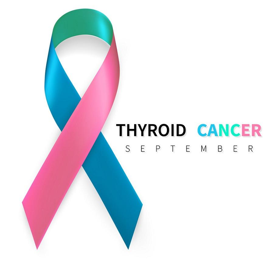 realistic thyroid cancer ribbon