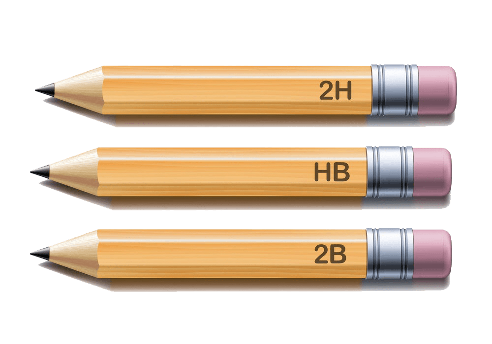 realistic yellow pencils png transparent