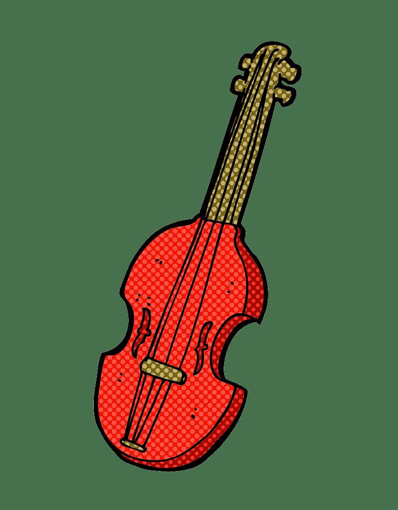 red comic violin png transparent