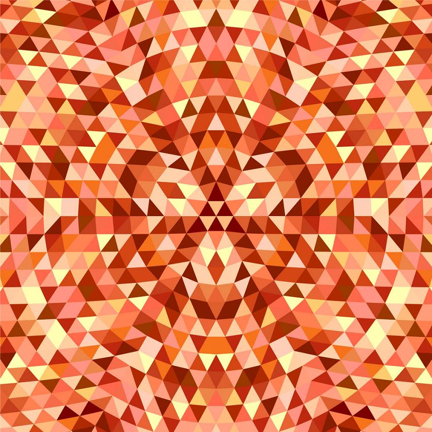 round triangle kaleidoscope png