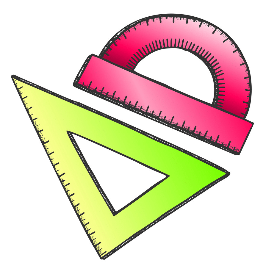 ruler and angle protractor png