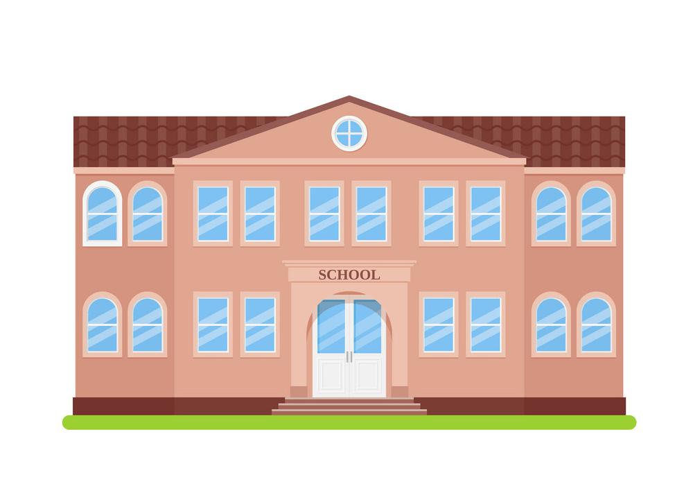 school building facade png