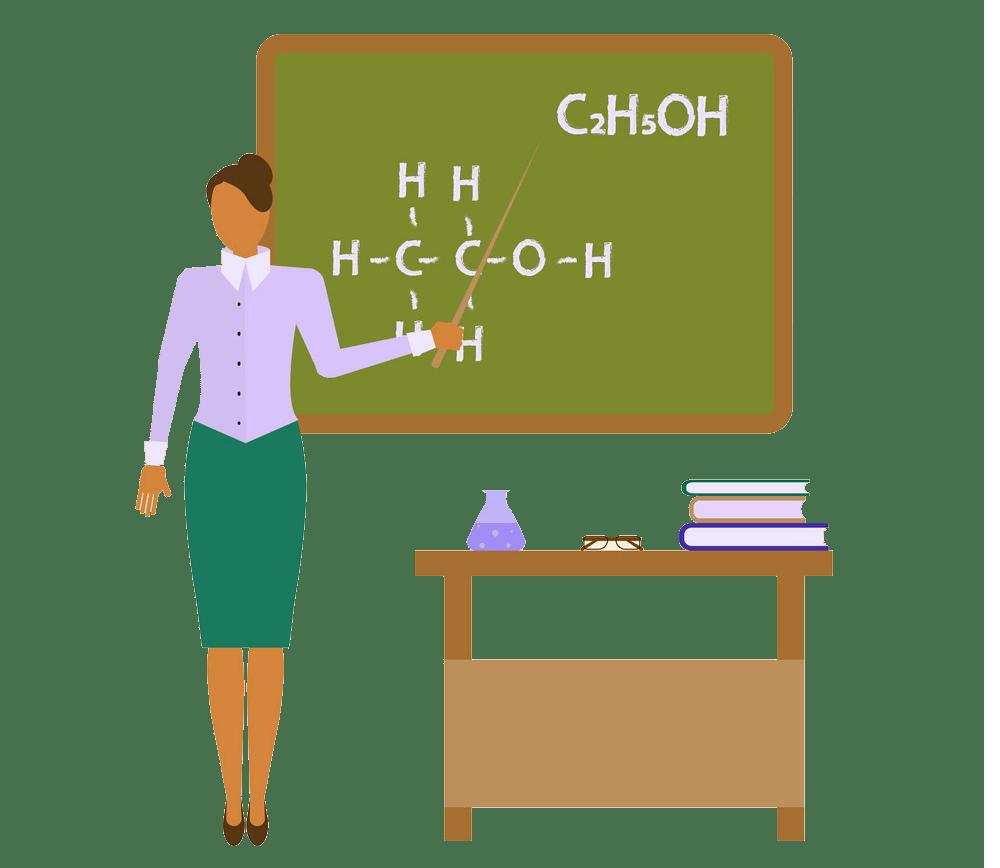 school chemistry female teacher png trasparent