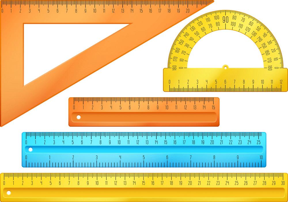 school instruments rulers set png
