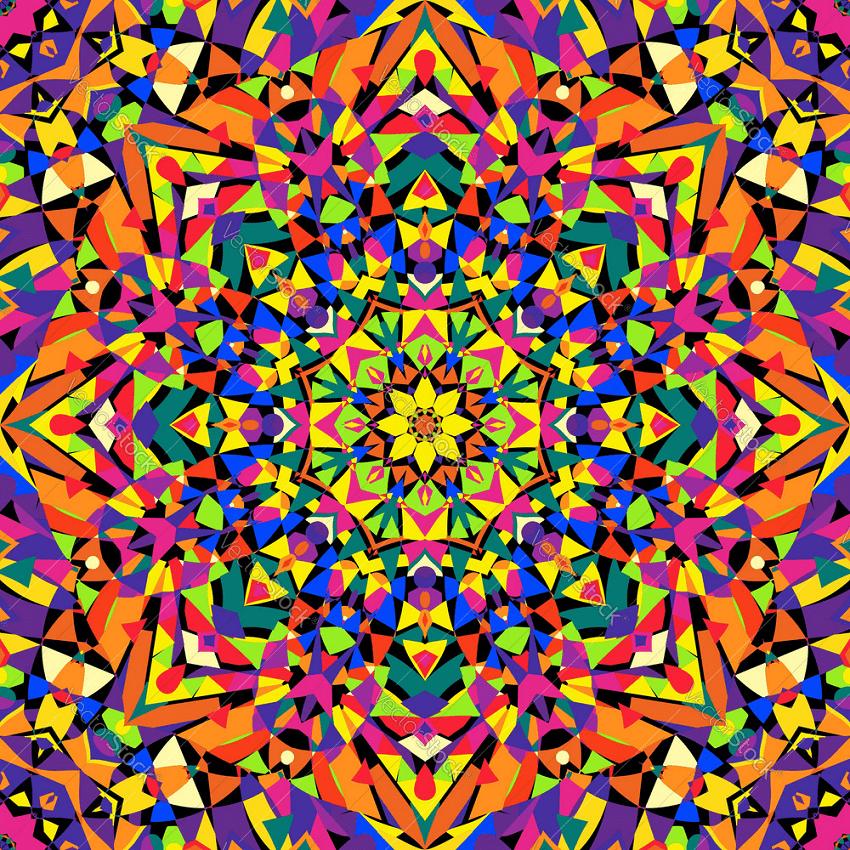 seamless kaleidoscope pattern png