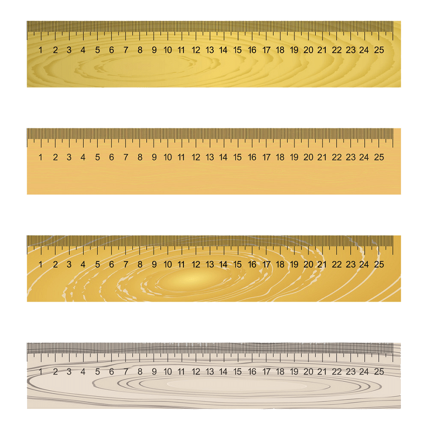 set of wooden rulers png transparent