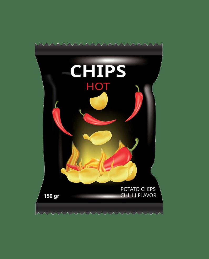 shot chips transparent
