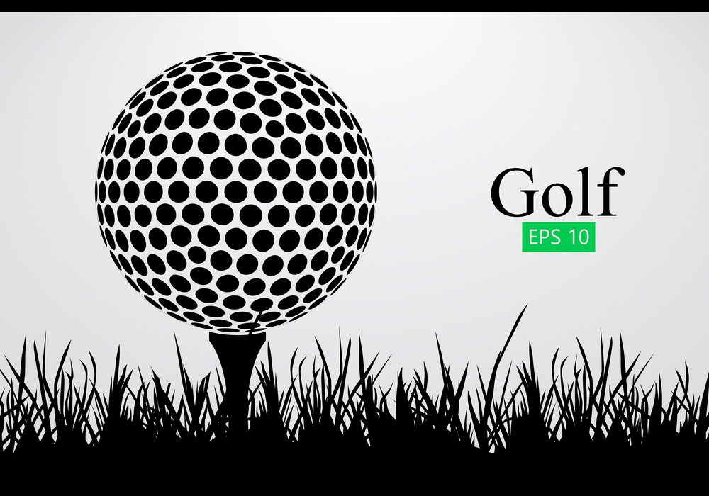 silhouette of a golf ball png