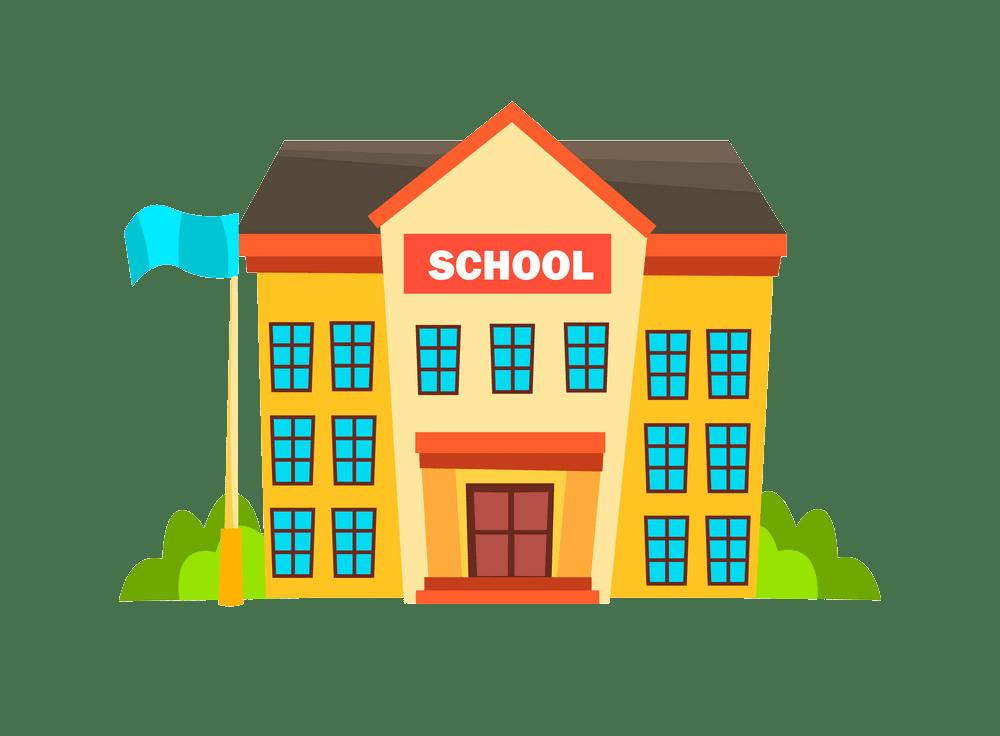 simple school building png trasnparent