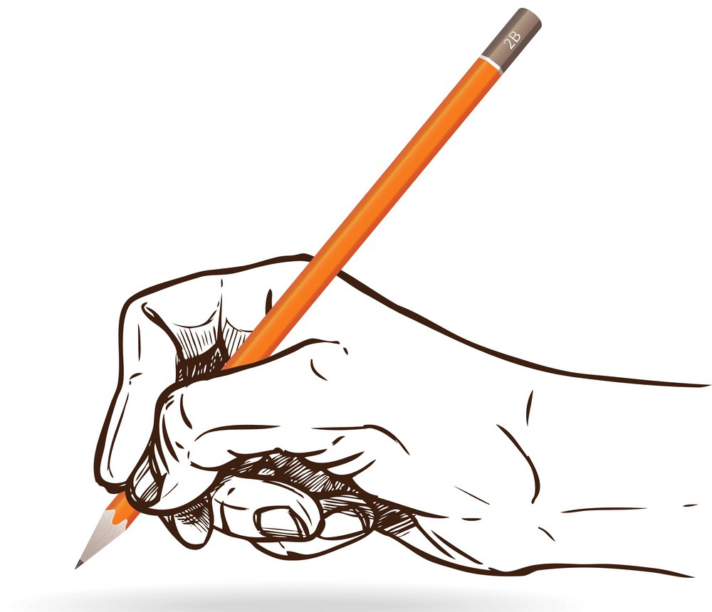 sketch hand holding pencil png