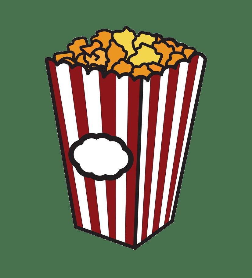sketch popcorn png transparent