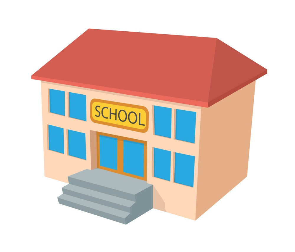 small school building icon