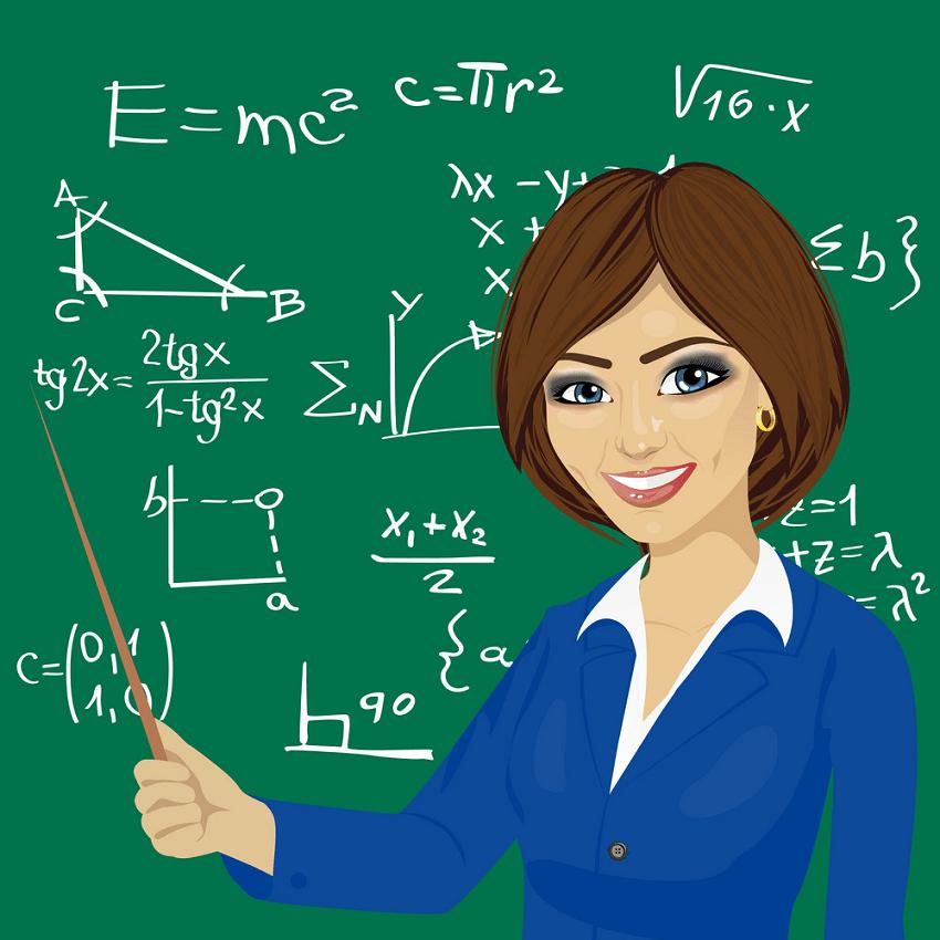 smiling math teacher png