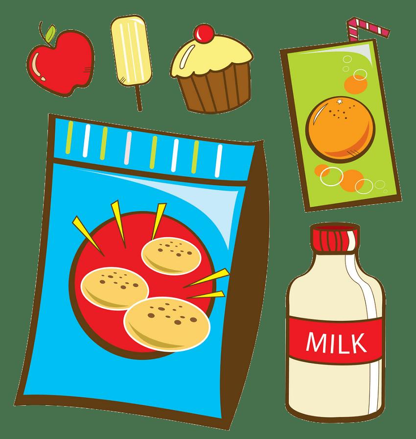 snack foods png transparent