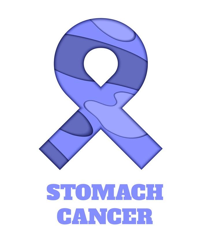 stomach cancer awareness papercut ribbon