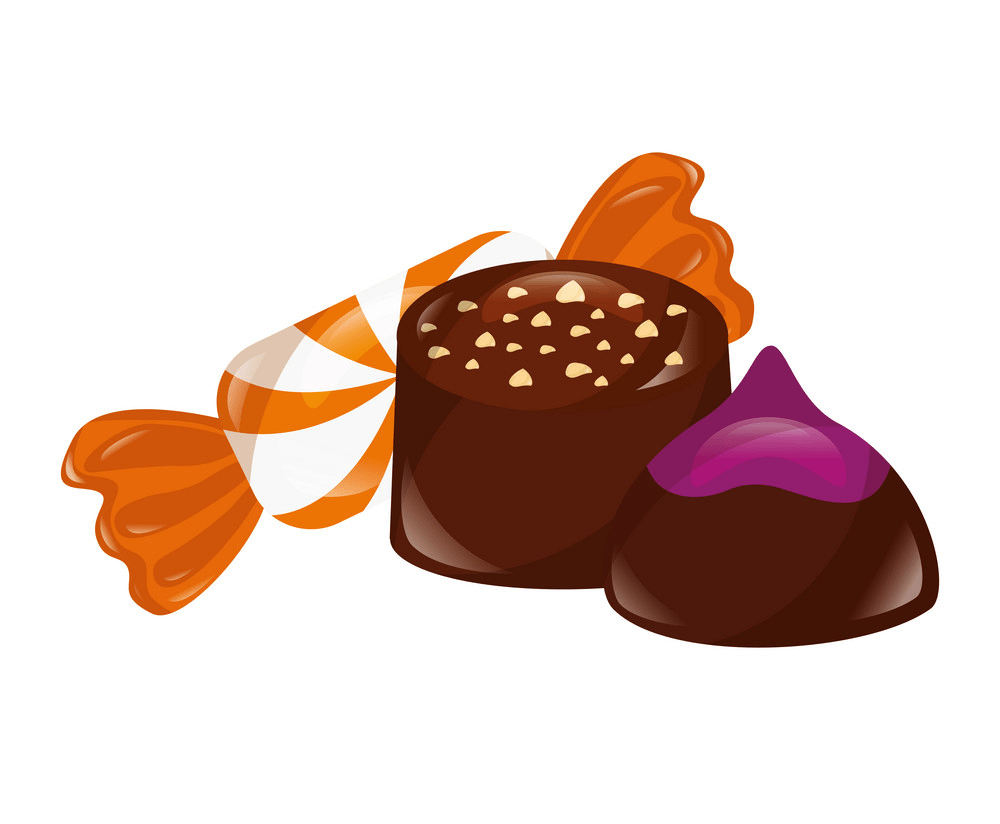 sweet chocolate bonbon and candy png