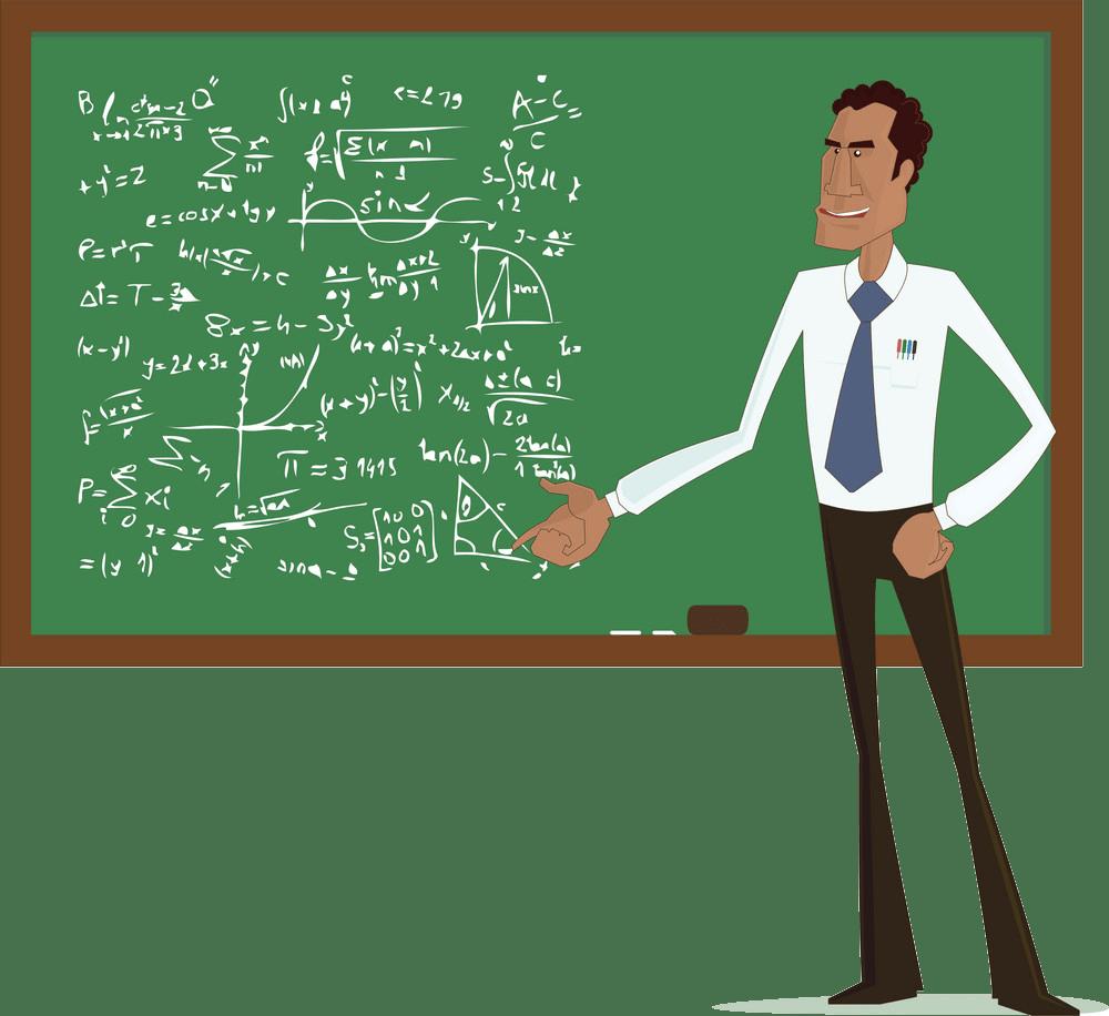 tall math teacher png trasparent