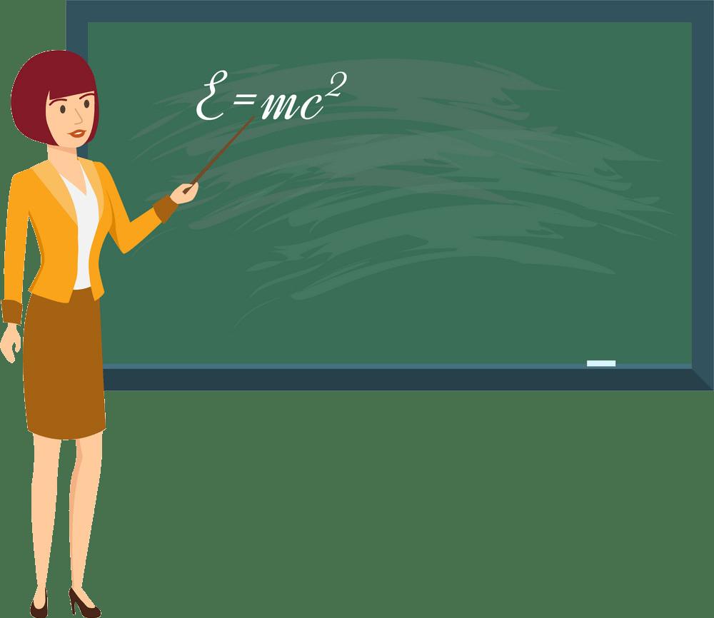 teacher in physics class png trasparent