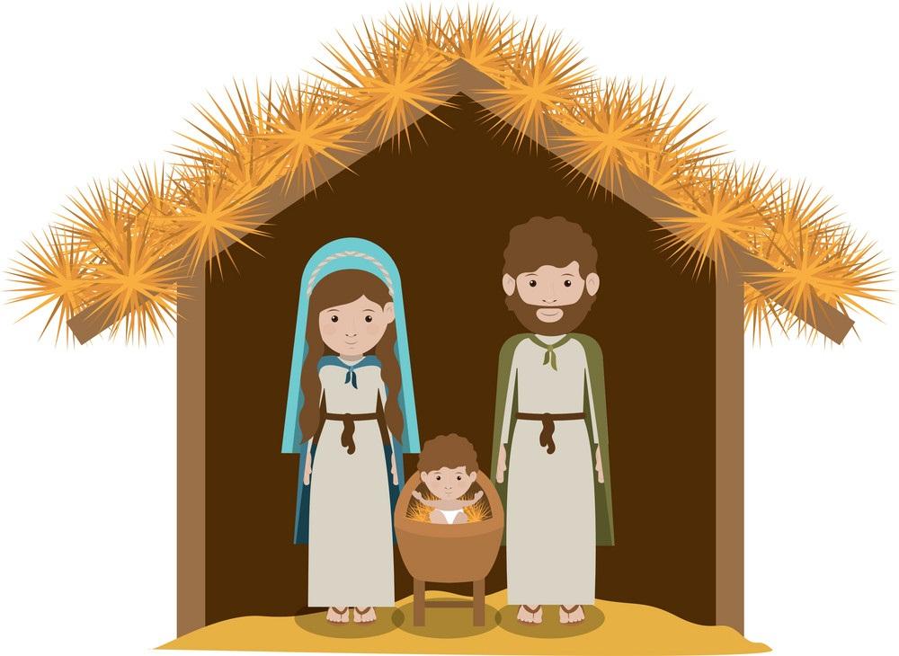 traditional manger scene