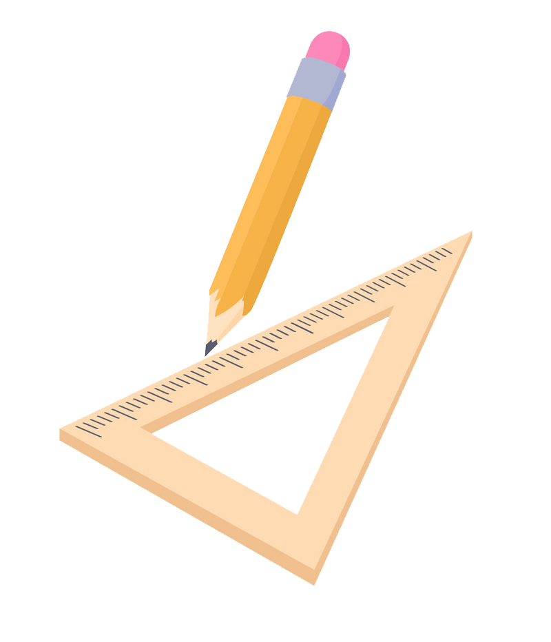 triangle ruler and pencil png transparent